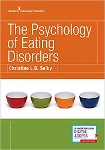book cover with the title The Psychology of Eating Disorders and four empty bowls one red, one green, one orange, one navy blue.